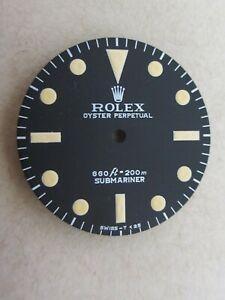 ~ VintageRolex #5513 Submariner 660ft Matte Black Refinished Dial~