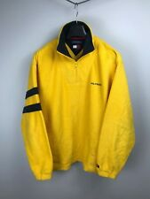 Tommy Hilfiger Vintage Fleece Logo Yellow Jacket M Medium Rare