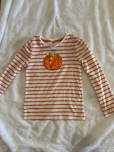 Size 7 Girls Gymboree long sleeve top. PUMPKIN. Premium fabric