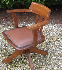 FINE ANTIQUE OFFICE SWIVEL CAPTAIN S CHAIR VERY CLEAN DELIVERY AVAILABLE