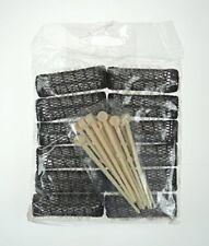 Denman Hair Salon Brush Rollers 12 x 13mm Small Brown & Pins