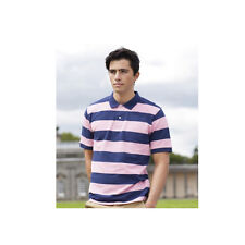 Front Row FR210 Men's Striped Pique Polo T-Shirt 4 Colours S-2XL