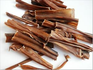 Dried cut 15cm ROE VENISON SKIN - treats chews snacks 100% NATURAL long lasting