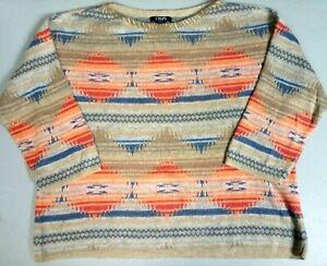 #901 CHAPS RALPH LAUREN AZTEC SOUTHWEST INDIAN PATTERN SWEATER WOMENS XL