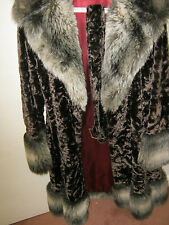 1 Faux Fur long womens winter coat Genuine vintage Never worn one owner 1973