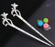 1pcs Fashion zinc alloy flower hair pin 160mm W7