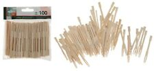 Bamboo Cocktail Forks Wooden Starter Buffet Party BBQ Wedding Food Event 100pcs