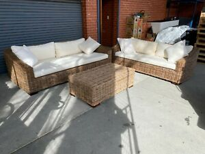 3 Piece Wicker Lounge Set + Delivery Included