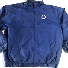 Vintage Reebok Indianapolis Colts Jacket Mens Size XL Zip Front Windbreaker Blue