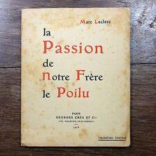 Leclerc - Passion de notre frère le Poilu - 1916 Georges Crès  WW1 PATOIS ANJOU