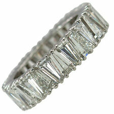 3ct Cocktail Party Ring inspired 925 Sterling silver Baguette Eternity White Cz*