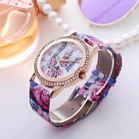 Fashion Women's Quartz Watches Stainless Steel Analog Leather Band Wrist Watch