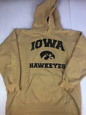 Vintage 90s Hanes Iowa Hawkeyes Thick Hoodie Sweatshirt Size Medium Distressed