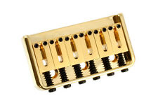 New Gold Hardtail Bridge with Steel Saddles for Guitar 53 mm spacing Sb-5107-002