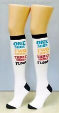 Leg Avenue Novelty Party White Shot Time Woven Knee Socks One Size