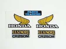 Side Panel and Gas Fuel Tank Wing Decal Kit Honda Elsinore CR250M 1973 1974