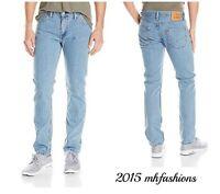 Levi Mens 511 Slim Fit Low Rise Jeans, Light Stonewash Size 29 x 30