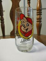 Alvin and The Chipmunks 1985 Hardees Promotional 16oz Tumbler Glass Vintage