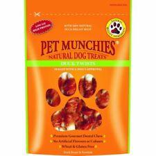 PET MUNCHIES 100% DUCK & RAWHIDE TWISTS DOG TREATS 80g Pouch x 8