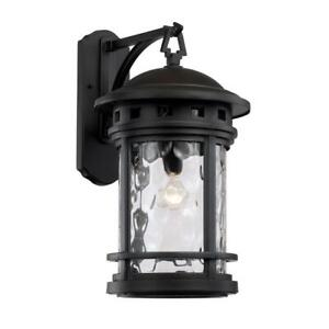 Bel Air Lighting  20 in.1-Light  Outdoor  Lantern Sconce with Water Glass