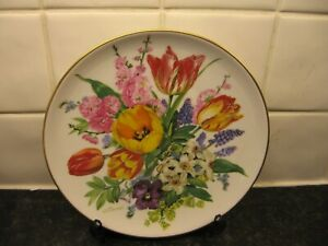 URSULA BANDS SEASONS FLOWER   PLATE  -EASTER BOUQUET     - BRADFORD EXCHANGE