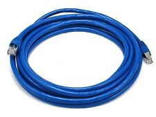 Monoprice 14' 24AWG Cat6A 500MHz STP Bare Copper Ethernet Network Cable - Blue