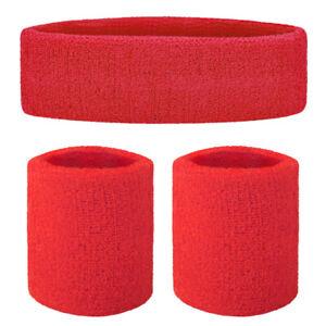GOGO Unisex Sweatband Set Sports Athletic Exercise Headband Wristband Strip US