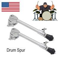 1 Pair Anti-rust Bass Drum / Kick Drum Spurs / Legs Bracket with Fittings Set