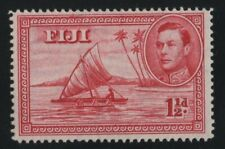 Fiji 1942 SG252b 1 1/2d carmine 14 perf die II lightly mounted mint
