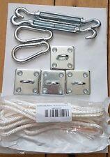 Kookaburra OMBRA VELA FACILE PARANCO Kit di fissaggio per triangoli-glavanised acciaio ACC