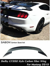 2015 16 Ford Mustang Rear Spoiler GT Wing Shelby GT350R style - Carbon Fiber CF