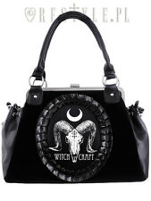 Restyle Ram Skull Witch Craft Gothic Emo Occult Punk Cameo Velvet Purse Handbag