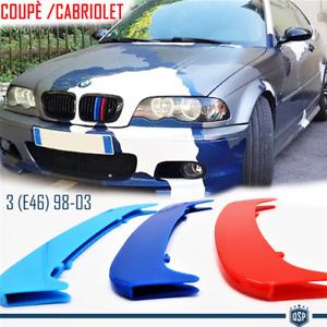 Fasce COVER calandra ABS PER Bmw 3 COUPÈ/CABRIOLET E46 FINO 2003 Colori M sport