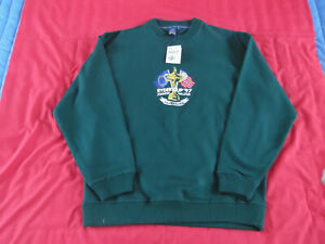 1997 Mens Offical Ryder Cup Pullover Green.Size Medium New