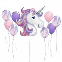 9 piece Unicorn Balloons Birthday Party Supplies for Kids Birthday Decorations .