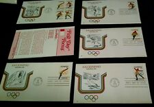 Set 5 1976 Cachet FDC Olympiad Olympics Fleetwood Skiing Skating Swimming Track