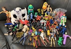 Huge Lot of Toys/Action Figures Marvel DC WWE Disney Bionicles Imaginext Vintage
