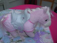Baby Born Pferd rosa mit glitzer Mähne - wiehert und macht Galopp-Geräusche
