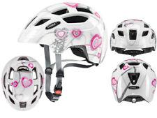 Uvex Fahrradhelm Kinderhelm Finale Junior heart white pink 51-55
