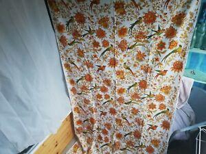 Vintage Jonelle Spice Island Duracolour fabric remnant 254 x 119 cm birds floral