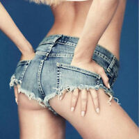 Sexy Cut Off Low Waist Women Denim Jeans Shorts Short Mini Hot Pants Chic UKFO