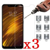 3Pcs Real Tempered Glass Screen Protector Clear For Xiaomi Pocophone F1