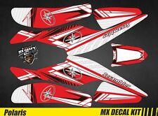 Kit Déco Quad / Atv Decal Kit Polaris Scrambler Trailblazer  - Red Arrow