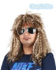 70s 80s Rocking Dude Wig Punk Metal Rocker Disco Retro Hippie Costume Accessory