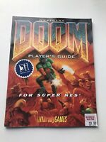 Official Doom Player's Strategy Guide For Super Nes Snes With Poster