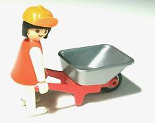Playmobil Vintage Garden Wheelbarrow Girl with Hat