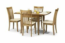 Julian Bowen Newbury Extending Dining Set Table Solid Wood Maple 4 Chairs