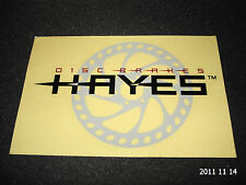 1 AUTHENTIC LARGER SIZED HAYES DISC BRAKES STICKER / DECAL / AUFKLEBER