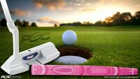 "NEW CLASSIC LADIES 33"" BLADE WHITE MADE GHOST PUTTER GOLF CLUB TAYLOR FIT PINK"