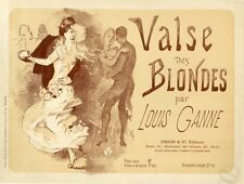 """VALSE DES BLONDES"" Couverture de partition originale entoilée  Jules CHERET"